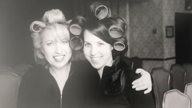 Jamie and Mom Curlers High Rez