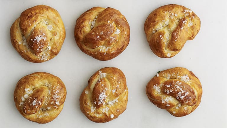 Cooking with Joy: Sea-Salted Soft Challah Pretzel Rolls