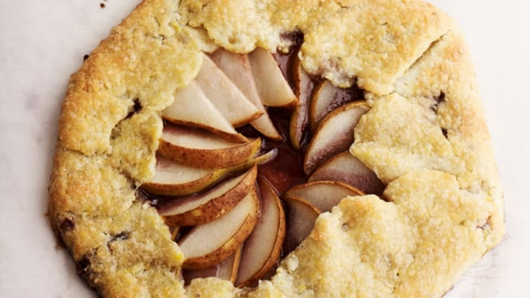 Shabbat Menu - Concord Grape and Pear Galette