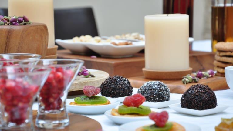 Table Décor For A Tu Bishvat Celebration