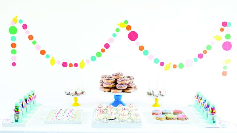 Dessert Table Decor for Hanukkah