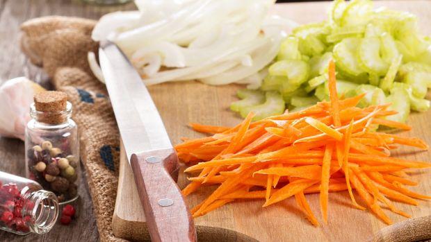 mirepoix vegetables chopped