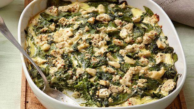 Mediterranean Baked Spinach