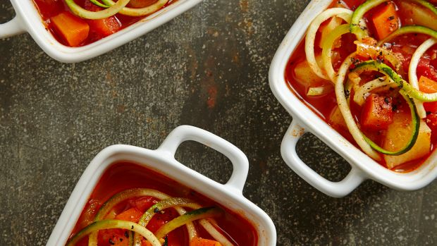 No-Bean Minestrone with Zoodles Pg. 40