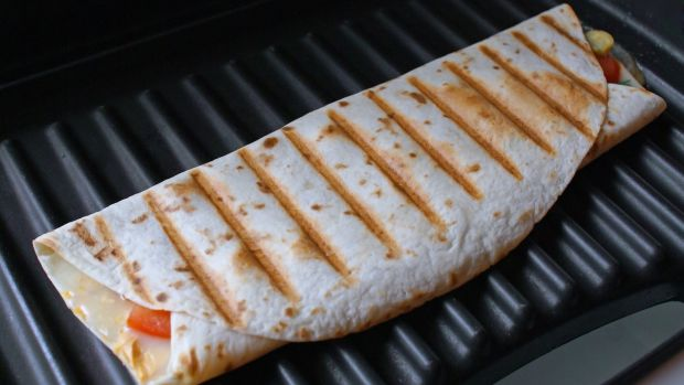 Grilled cheese tortilla