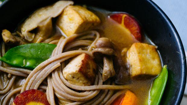 Soba Noodle Vegetable Soup