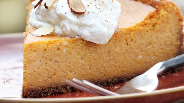 decadent pumpkin cheesecake