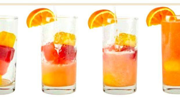 Ice cube cocktails