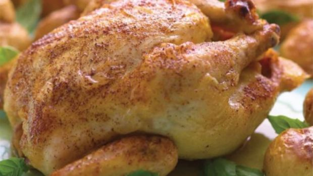 Roasted Cornish Hens with Fingerling Potatoes