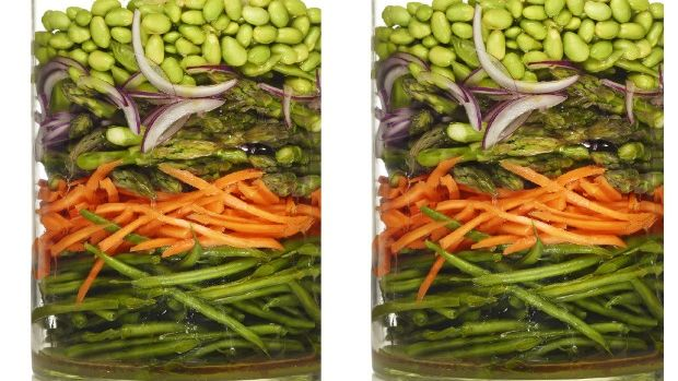 marinated vegetable salad modern menu raw vegan