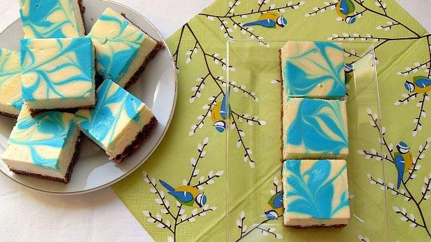 blue swirl cheesecake