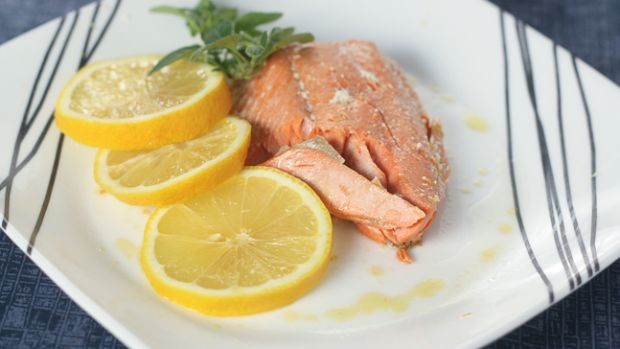 olive oil poached salmon 647