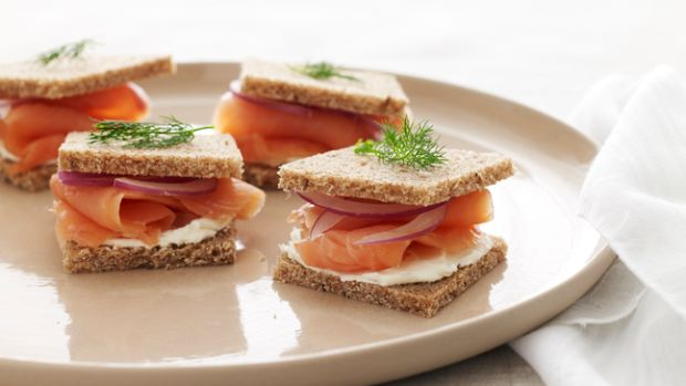 salmon tea sandwich