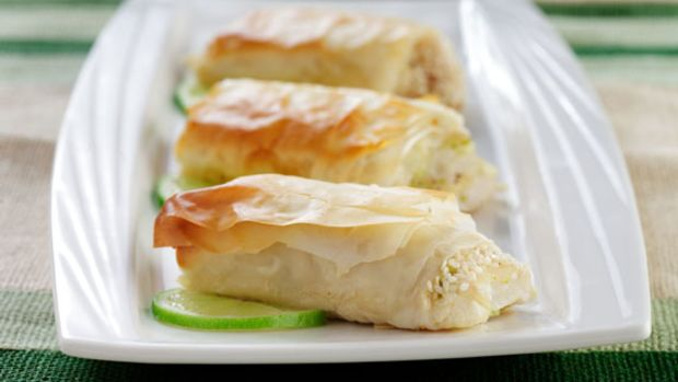 White Fish with Phyllo and Sesame