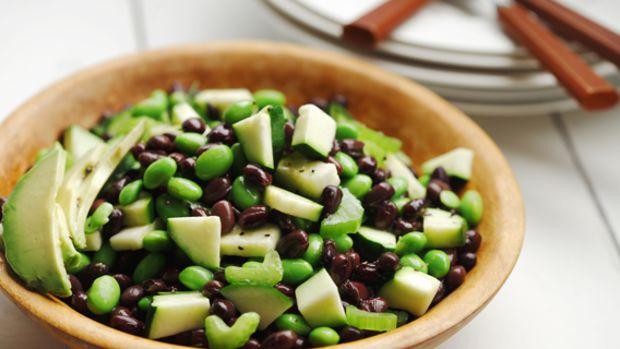 Black Bean and Edamame Avocado Salad