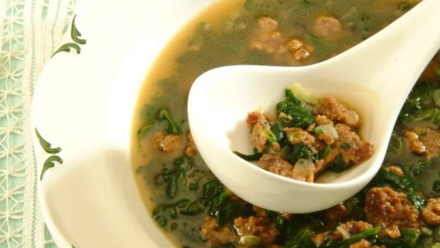 spinach and turkey soup