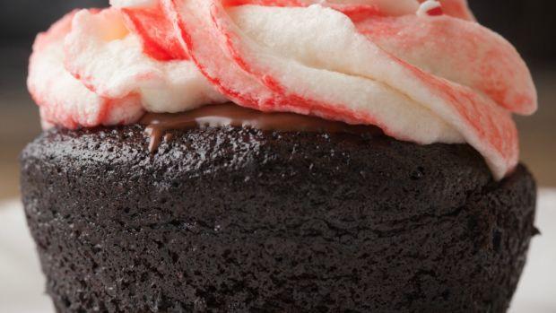 chocolate peppermint cupcake