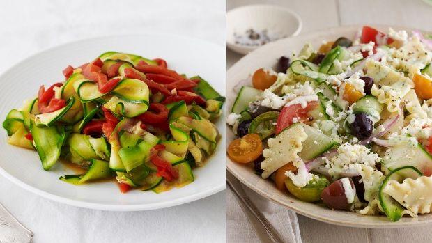 pasta and veggies