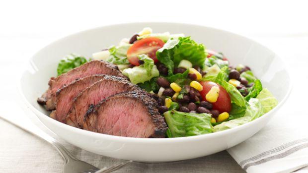 steak-salad