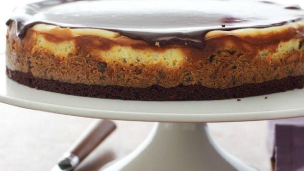Cookie Dough Cheesecake with Milk Chocolate Ganache
