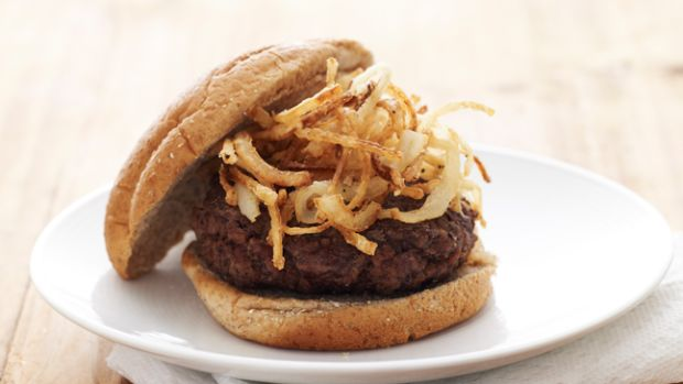 Burger with Fried Onions