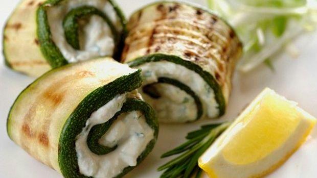 grilled zucchini roll ups