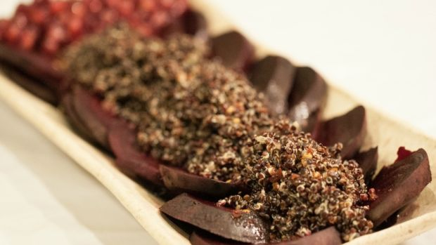 beets with quinoa