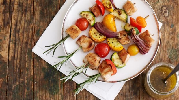 Chicken and Veggie Skewers