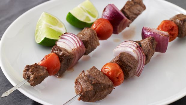 Lamb, Cherry Tomato and Red Onion Kebabs