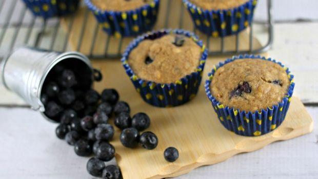 Lemon Blueberry Oat Muffins