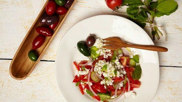 Beefed Up Israeli Salad