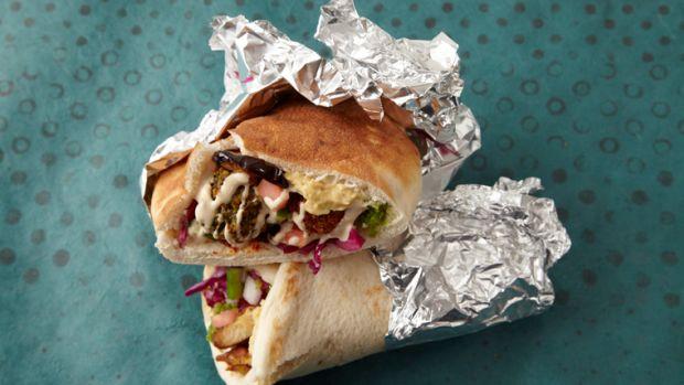 Shawarma open