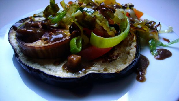 roasted eggplant salad