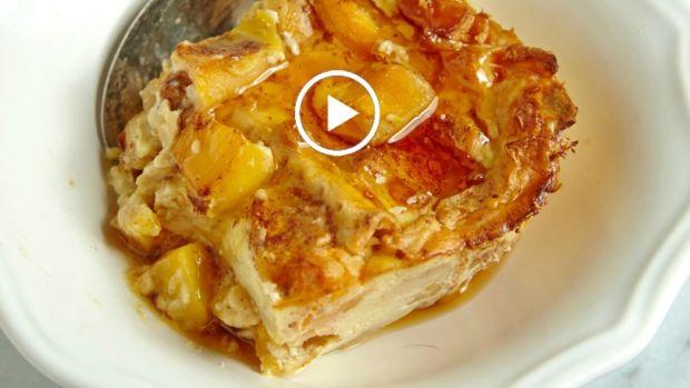peach matzo brie bake video