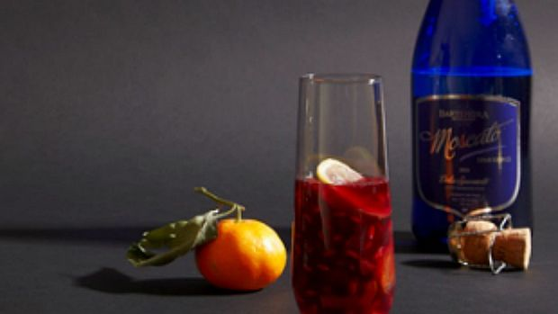 Sangria with spices and citrus
