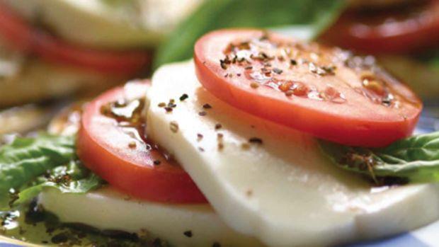 mozzarella-and-tomato-stacks