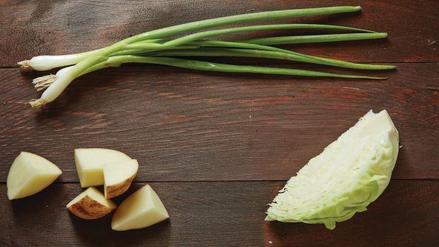 Mashed Potato Stuffed Cabbage
