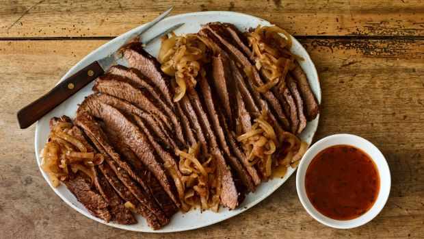 Slow Braised Brisket and Onions