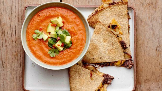 Vegetarian Portobello Quesadillas
