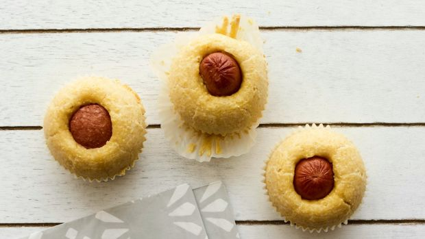 Corn Dog Muffins horizontal
