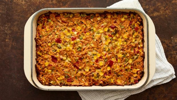Sweet Potato Kugel horizontal