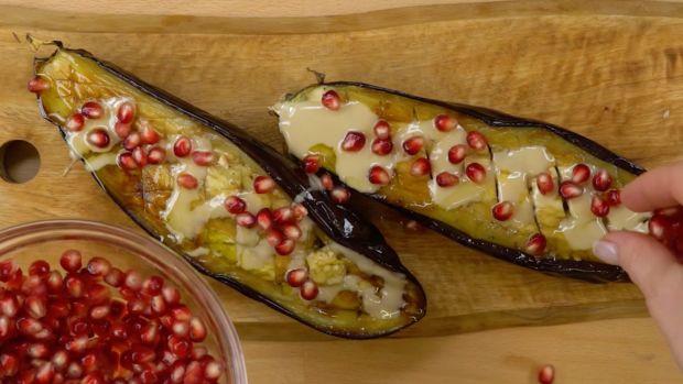roast eggplant with tahini