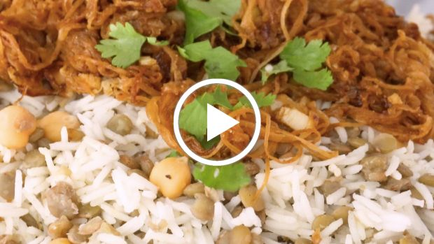 Israeli Rice with Lentils and Chickpeas (Mujadara)