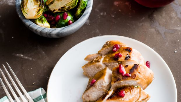 Honey Chicken with Sauteed Brussels Sprouts
