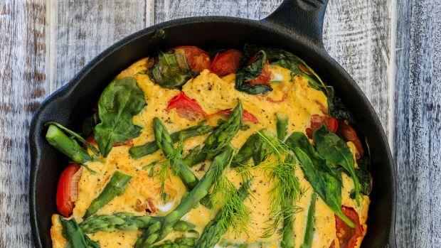 Asparagus and Sun Dried Tomato Fritata