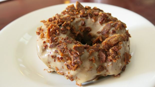 Maple Glaze Donut with Beef Bacon