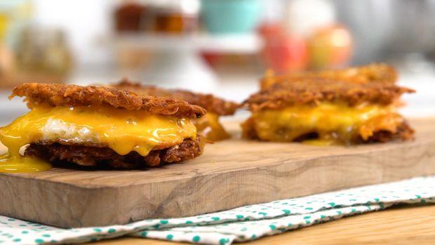 Fried Egg Potato Pancakes Sliders