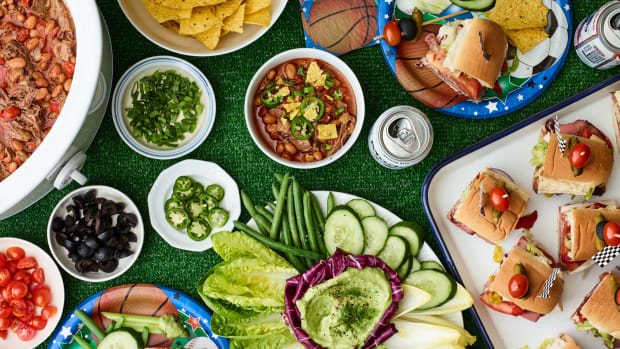Purim Sports Party Buffet Table