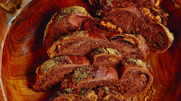 cookie butter chocolate challah wide