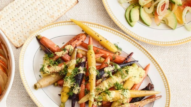 roasted carrots with dill gribeche